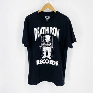 DEATH ROW RECORDS Graphic Logo Tee Black Large